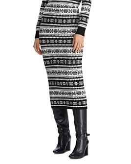Ralph Lauren - Fair Isle Knit Midi Skirt