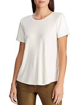 Ralph Lauren - Sequin-Sleeve Tee