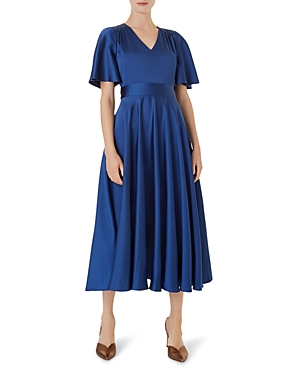 Hobbs London Angelina Satin Fit-and-Flare Dress