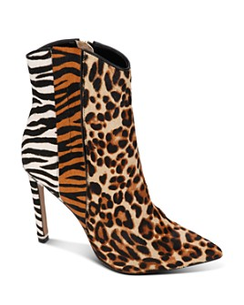 Kenneth Cole - Women's Riley Mixed Animal-Print Western Booties
