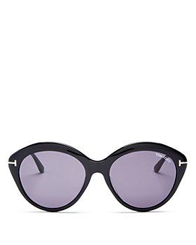 Tom Ford - Women's Maxine Polarized Round Sunglasses, 57mm