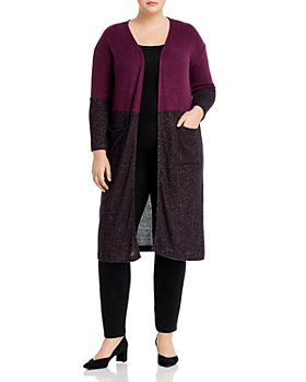 B Collection by Bobeau Curvy - Ramona Color Block Duster Cardigan