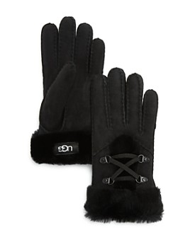 UGG® - Lace-Up Shearling Gloves