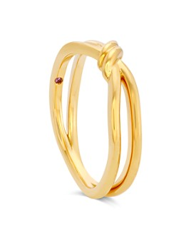 Hayley Paige for Hearts on Fire - 18K Yellow Gold Forget-You-Never Band with Pink Sapphire