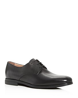 Salvatore Ferragamo - Men's Spencer Plain-Toe Leather Oxfords - Narrow