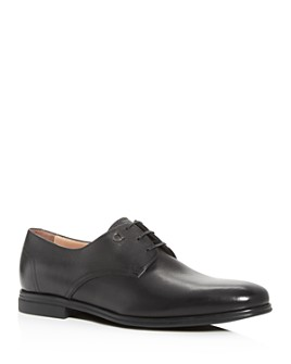Salvatore Ferragamo - Men's Spencer Plain-Toe Leather Oxfords - Wide