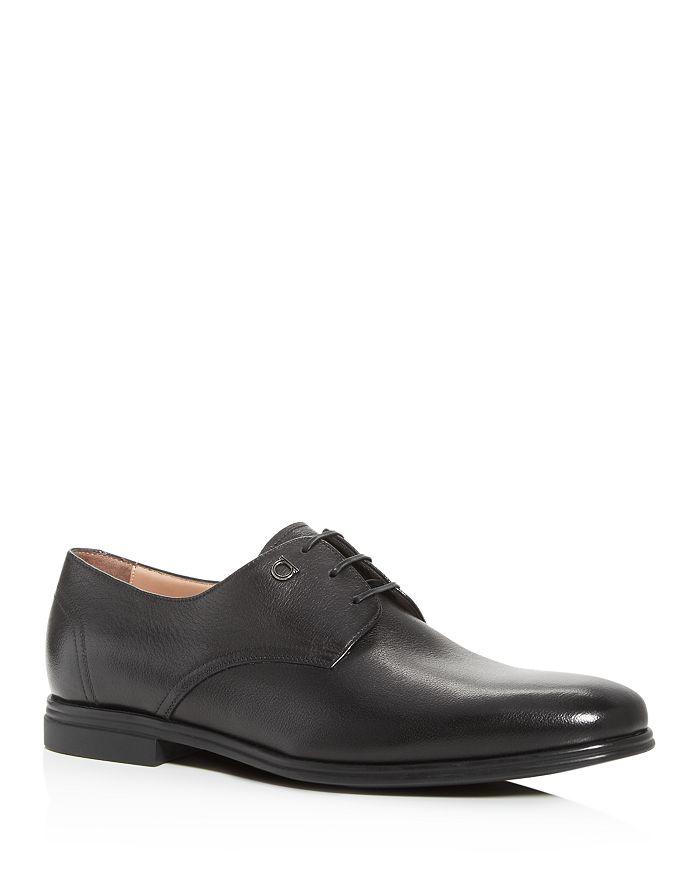 Salvatore Ferragamo - Men's Spencer Plain-Toe Leather Oxfords