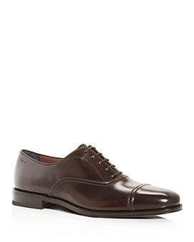 Salvatore Ferragamo - Men's Seul Leather Cap-Toe Oxfords - Wide