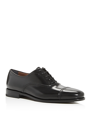 Salvatore Ferragamo Men's Seul Leather Cap-Toe Oxfords - Wide