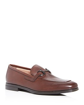 Salvatore Ferragamo - Men's Scarlet Gancini Bit Leather Loafers - Wide
