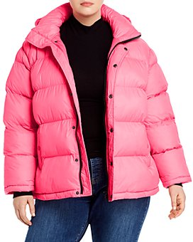 AQUA Curve - Short Hooded Puffer Coat - 100% Exclusive