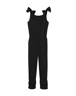 AQUA - Girls' Bow Detail Jumpsuit, Big Kid - 100% Exclusive