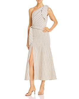 Gary Bigeni - Wyndel Striped One-Shoulder Dress