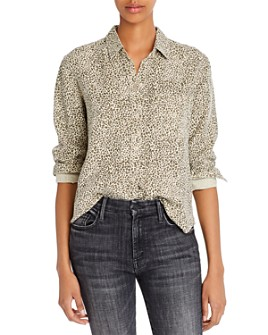 Rails - Ingrid Raw-Edge Leopard Print Shirt