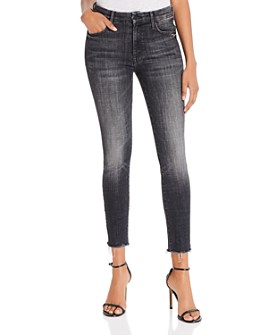 MOTHER - The Looker Ankle Fray Skinny Jeans in Stargazing
