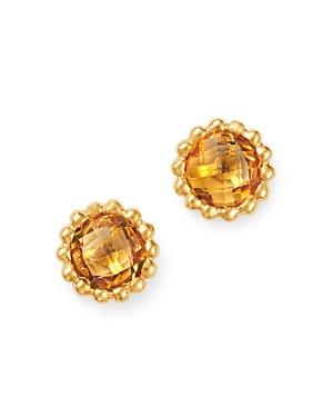Bloomingdale's Citrine Beaded Stud Earrings in 14K Yellow Gold - 100% Exclusive