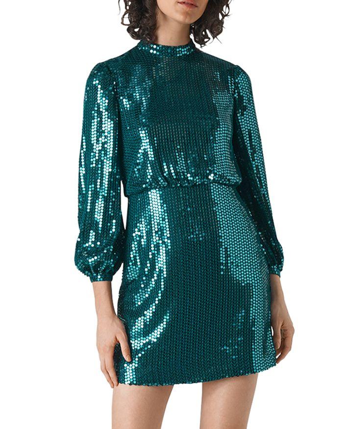 Whistles - Dena Sequined Mini Dress