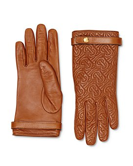 Burberry - Monogram-Quilted Leather Gloves