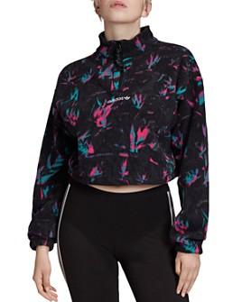 adidas Originals - Half-Zip Printed Fleece Sweatshirt