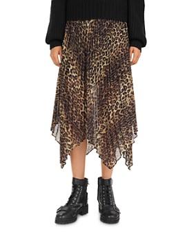 The Kooples - Contemporary Pleated Leopard-Print Midi Skirt