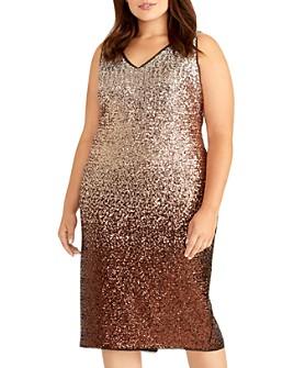 Rachel Roy Plus - Ombré Sequined Midi Dress