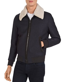 The Kooples - Redding Shearling-Collar Jacket