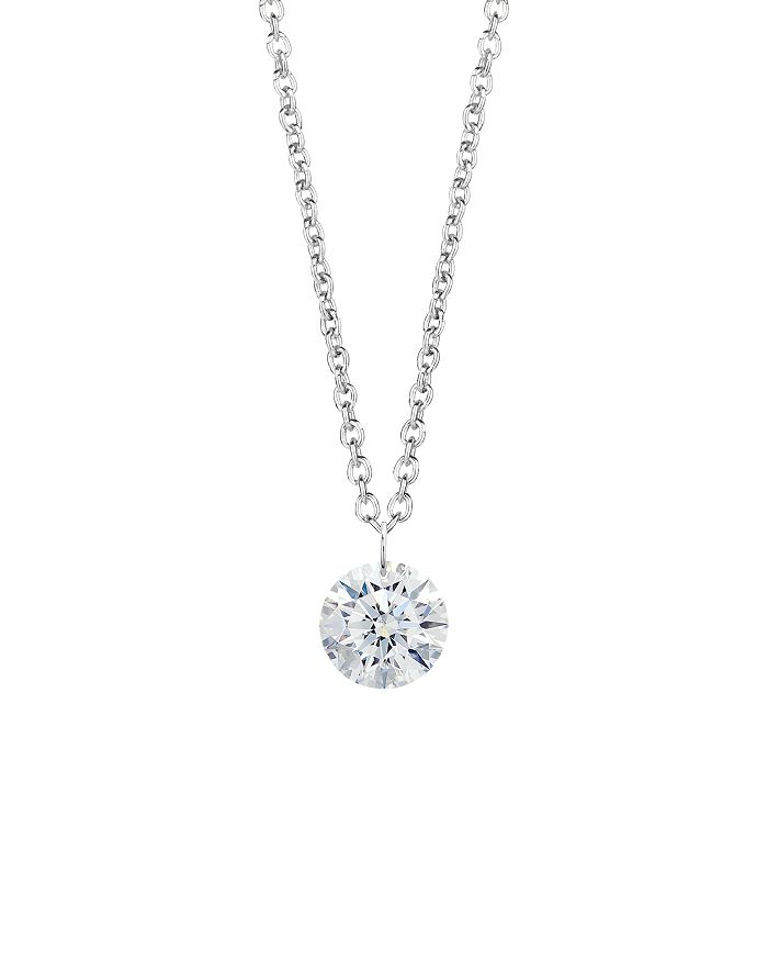Lightbox Jewelry - Pierced Lab-Grown Diamond Pendant Necklace in Sterling Silver, 18