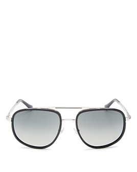 Persol - Men's Brow Bar Aviator Sunglasses, 57mm