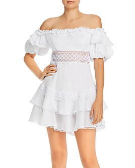 Charo Ruiz Ibiza - Maral Off-the-Shoulder Lace-Inset Dress