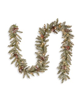 National Tree Company - 9 ft. Dunhill® Fir Garland with Clear Lights