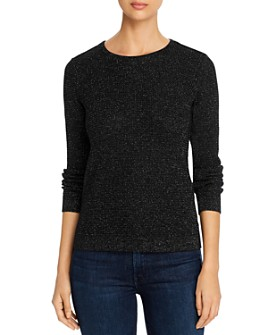 Eileen Fisher - Metallic Waffle-Knit Sweater