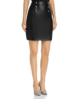 KARL LAGERFELD PARIS - Faux-Leather Sailor Skirt