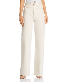 Levi's - Ribcage Wide-Leg Jeans in Icy Ecru