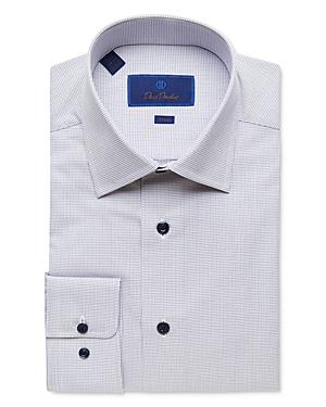 David Donahue Micro Diamond Trim Fit Dress Shirt-Men