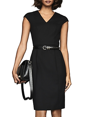 Reiss Dresses HARTLEY CAP-SLEEVE SHEATH DRESS