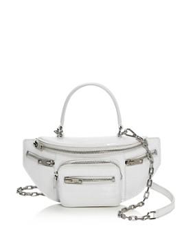 Alexander Wang - Attica Mini Croc-Embossed Belt Bag