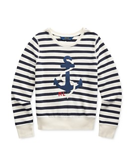 Ralph Lauren - Girls' Embroidered Anchor Sweatshirt - Big Kid