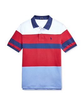 Ralph Lauren - Boys' Striped Color-Block Polo Shirt - Big Kid