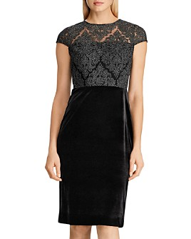 Ralph Lauren - Lace-Bodice Velvet Dress