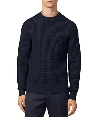 Sandro Sweaters WAFFLE-STITCH CREWNECK SWEATER