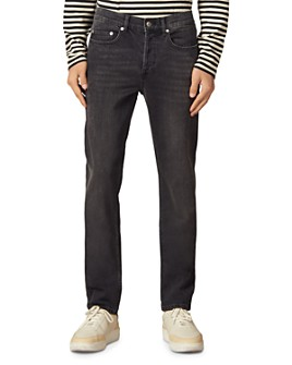 Sandro - Slim Fit Stretch Jeans in Washed Black
