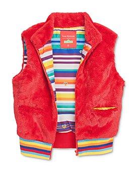 Isaac Mizrahi Loves Sesame Street - Unisex Elmo Faux Fur Vest, Little Kid - 100% Exclusive