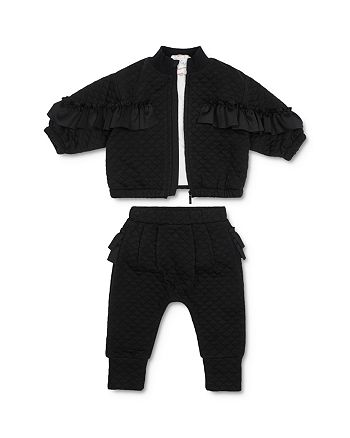 Habitual Kids - Girls' Jada Quilted Jacket, Tee & Jogger Pants Set - Baby