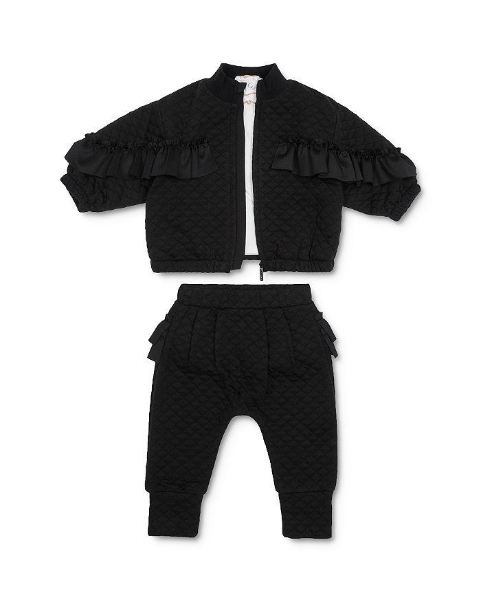 Habitual Kids - Girls' Jada Quilted Jacket, Tee & Jogger Pants Set - Baby