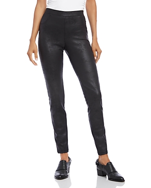 Karen Kane Pants FAUX-LEATHER PANTS