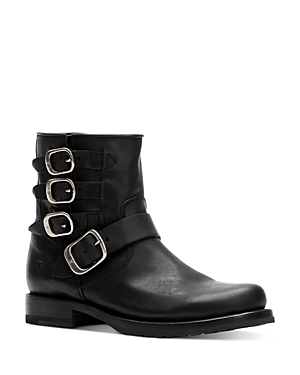 Frye Boots WOMEN'S VERONICA BELTED LEATHER BOOTIES