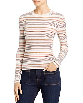 FRAME - Easy Striped Rib-Knit Sweater