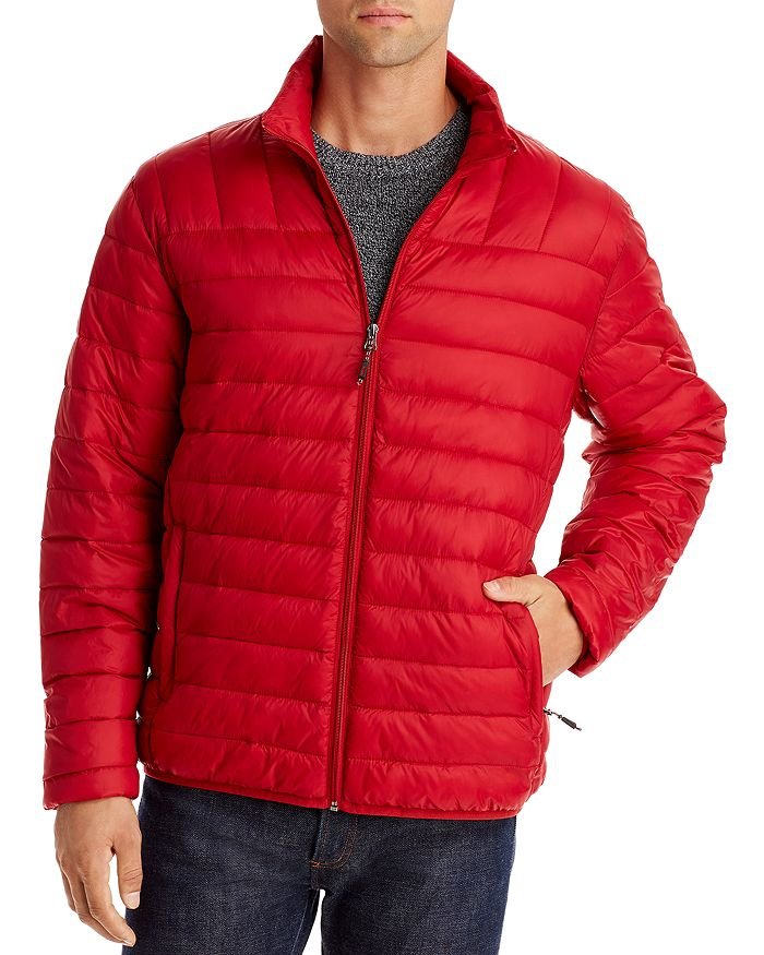 Hawke & Co. Packable Puffer Jacket In Chilli Pepper