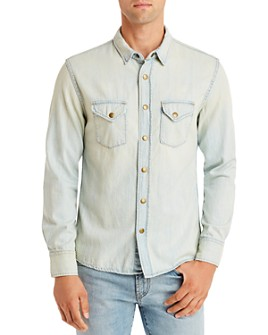 Billy Reid - Bleached Denim Regular Fit Shirt