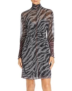 Rag & Bone Dresses RAG & BONE MARIS SHEER SILK ZEBRA MINI DRESS